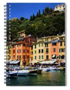 Panorama Of Portofino Harbour Italian Riviera Spiral Notebook