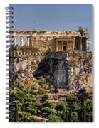 Panorama Of The Acropolis In Athens Spiral Notebook