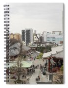 Panorama Of The Senso Ji Temple In Tokyo Spiral Notebook