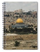 Panorama Of The Temple Mount Including Al-aqsa Mosque And Dome Spiral Notebook