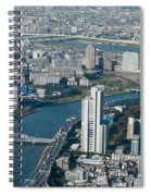 Panorama Of Tokyo Spiral Notebook