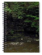 Panorama Of Wolf Creek At Letchworth State Park Spiral Notebook