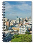 Panoramic Aerial View Of Durban, South Spiral Notebook
