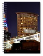 Panoramic Cleveland Night Spiral Notebook