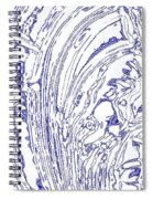 Panoramic Grunge Etching Royal Blue Color Spiral Notebook