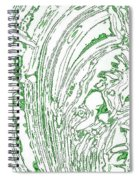 Panoramic Grunge Etching Sage Color Spiral Notebook