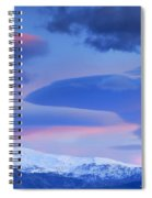Panoramic Lenticular Clouds Over Sierra Nevada National Park Spiral Notebook