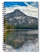 Panoramic Of Anthony Lake Spiral Notebook