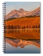 Panoramic Of Little Redfish Lake Spiral Notebook
