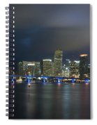 Panoramic Of Miami Florida Spiral Notebook