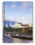 Panoramic Of Newcastle And Gateshead Quayside Spiral Notebook
