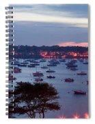Panoramic Of The Marblehead Illumination Spiral Notebook
