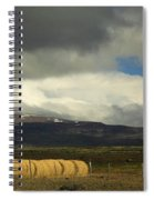 Panoramic Sunlit Straw Bales Spiral Notebook