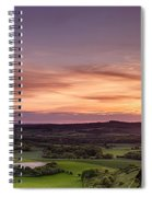 Panoramic Sunset Over England Spiral Notebook