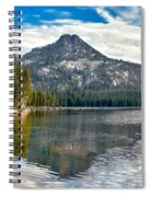 Panoramic View Of Anthony Lake Spiral Notebook