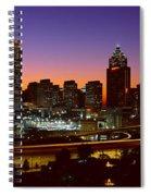 Panoramic View Of Atlanta Skyline Spiral Notebook