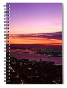 Panoramic View Of Empire State Spiral Notebook