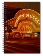 Panoramic View Of Golden Nugget Casino Spiral Notebook