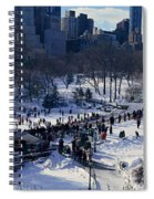 Panoramic View Of Ice Skating Wollman Spiral Notebook