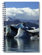 Panoramic View Of Icebergs And Glaciers Spiral Notebook