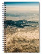 Panoramic View Of Landscape Of Mountain Range Spiral Notebook