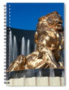 Panoramic View Of Mgm Lion And Mgm Spiral Notebook