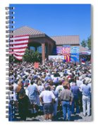 Panoramic View Of Spectators At Oxnard Spiral Notebook