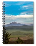 Panoramic View Of The Cascades Spiral Notebook