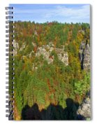 Panoramic View Of The Elbe Sandstone Mountains Spiral Notebook