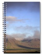 Panoramic View Of The Mountains Lit By The Sun Spiral Notebook