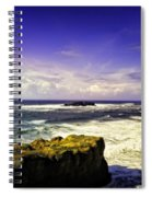Panoramic View Of The Pacific Ocean Spiral Notebook