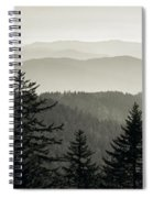 Panoramic View Of Trees With A Mountain Spiral Notebook