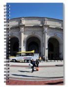 panoramic View of Union station in Washington DC Spiral Notebook