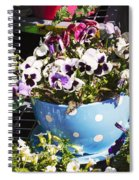 Cup Of Pansies Spiral Notebook