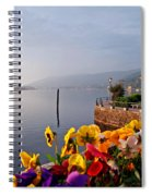 Pansies On Lake Maggiore Spiral Notebook