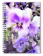 Pansies Watercolor Spiral Notebook
