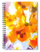Pansy Flowers Spiral Notebook