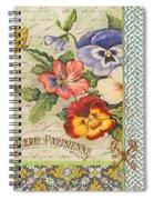 Pansy Garden-b Spiral Notebook