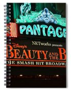 Pantages Theather Marquie Spiral Notebook