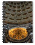 Pantheon Ceiling Detail Spiral Notebook