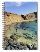 Papagayo Beach On Lanzarote Spiral Notebook