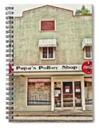 Papa's Poboy Shop Spiral Notebook