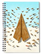 Paper Airplanes Of Wood 10 Spiral Notebook