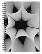 Paper Flower Black And White Spiral Notebook