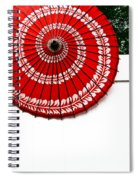 Paper Umbrella With Swirl Pattern On Fence Spiral Notebook