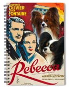 Papillon Art - Rebecca Movie Poster Spiral Notebook