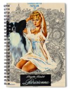 Papillon Art - Una Parisienne Movie Poster Spiral Notebook