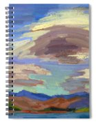 Papoose Lake And Clouds Spiral Notebook