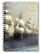 Parade Of The Black Sea Fleet In 1849 Spiral Notebook