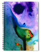 Paradise Found - Colorful Abstract Painting Spiral Notebook